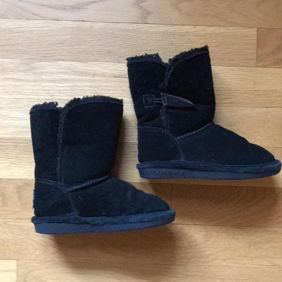 0c9f1546bcb1b BearPaw Shoes | Bear Paw Black Suede Winter Boots | Poshmark
